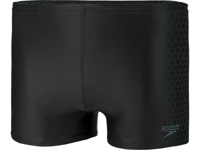 speedo Placement Aquashorts Heren, black/oxid grey
